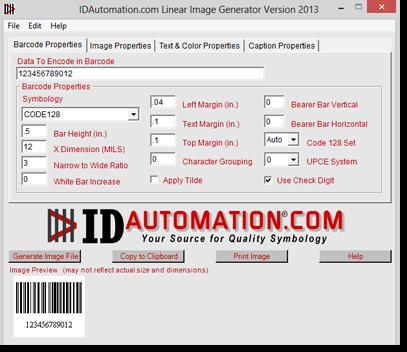 Barcode Image Generator