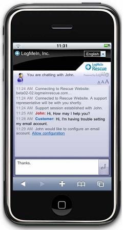 Compatibilidad global para los dispositivos móviles de hoy - LogMeIn Rescue