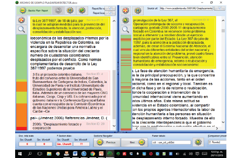 Plagiarism Detector - Revisión de fuentes
